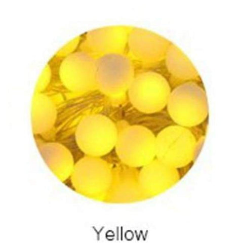 Image of Planet Gates Yellow YINGTOUMAN 10m 80led String Lights AC200V Ball Lighting Holiday Decoration Lamp Festival Christmas Light