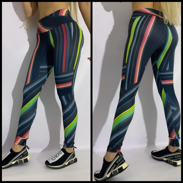 Color & Rays Ilusion Leggings - Corpo Lindo