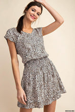 Load image into Gallery viewer, Waist Smocking Leopard Dress - - - Women's Dresses - Snips and Snails Boutique
