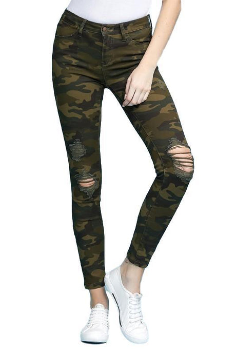 Judy Blue Camouflage Print Skinny Jeans - - - Denim - Snips and Snails Boutique