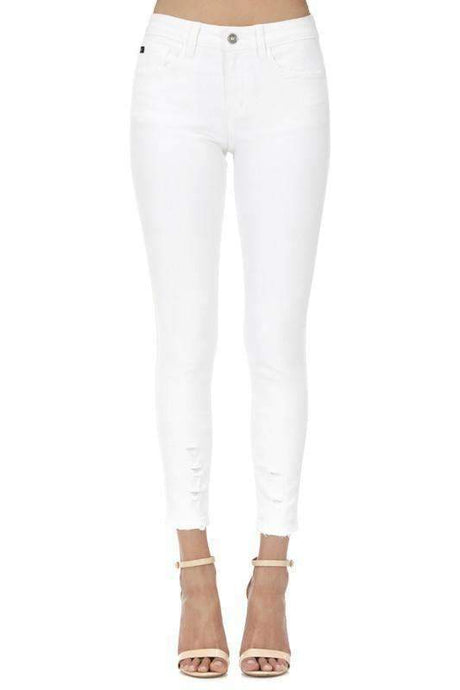 KanCan White Ripped Skinny Denim Jeans