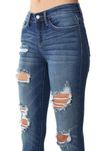 Load image into Gallery viewer, Judy Blue Heavy Destroyed Mid Rise Skinny Jeans