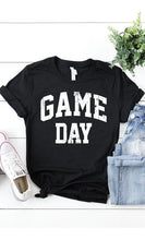 Load image into Gallery viewer, Game Day Graphic T-Shirt -Black / Small -Black - Graphic T-Shirts - Snips and Snails Boutique