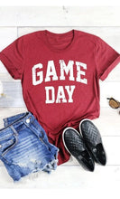 Load image into Gallery viewer, Game Day Graphic T-Shirt -Maroon / Small -Maroon - Graphic T-Shirts - Snips and Snails Boutique