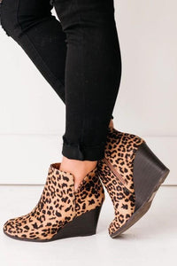 Best Seller Wedge Booties in 3 Colors -Leopard / 5.5 -Leopard - Shoes - Snips and Snails Boutique