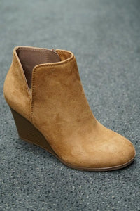 Best Seller Wedge Booties in 3 Colors -Tan / 5.5 -Tan - Shoes - Snips and Snails Boutique