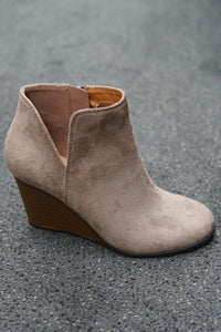 Best Seller Wedge Booties in 3 Colors -Taupe / 5.5 -Taupe - Shoes - Snips and Snails Boutique