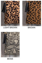 Load image into Gallery viewer, Animal Print Cross Body/Clutch Bag - - - Accessories, Bags - Snips and Snails Boutique