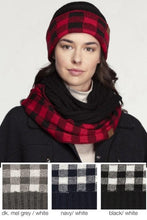 Load image into Gallery viewer, CC Buffalo Check Knit Scarf - - - Accessories, Scarves - Snips and Snails Boutique