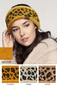 CC Leopard Pattern Headwrap Head Wrap with Lining - - - Accessories, Hats - Snips and Snails Boutique