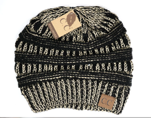 Load image into Gallery viewer, CC Beanie Metallic Skullcap Hats -Black Met Gold -Black Met Gold - Accessories, Hats - Snips and Snails Boutique