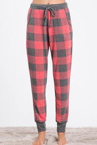 Plaid Drawstring Jogger Pants - - - Sleepwear & Loungewear - Snips and Snails Boutique