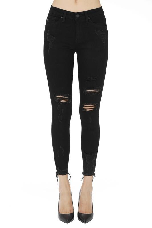 KanCan Black Distressed Denim Jeans - - - Denim - Snips and Snails Boutique