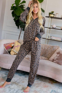 Leopard Print Pullover Casual Pants - - - Sleepwear & Loungewear - Snips and Snails Boutique