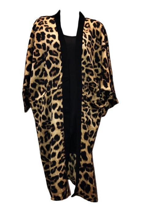 Do Everything In Love Leopard Animal Print Silky Kimono - - - Cardigans - Snips and Snails Boutique
