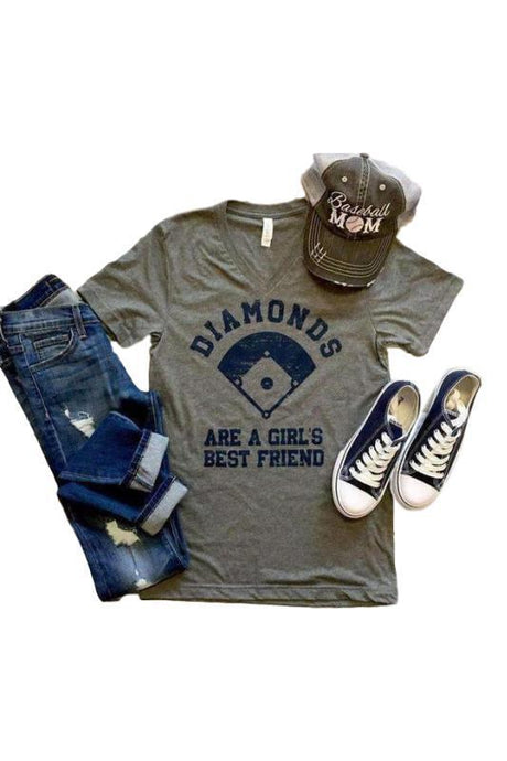 Diamonds are a Girls Best Friend T shirt - - - Graphic T-Shirts - Snips and Snails Boutique