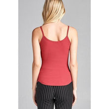 Load image into Gallery viewer, Double Strap Ribbed V-neck Cami Top
