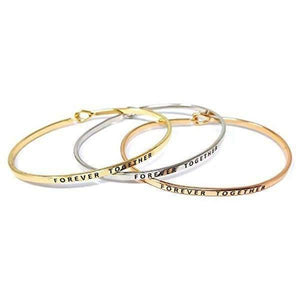 Forever Together Message Jewelry Bangles