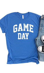 Game Day Graphic T-Shirt -Blue / Small -Blue - Graphic T-Shirts - Snips and Snails Boutique