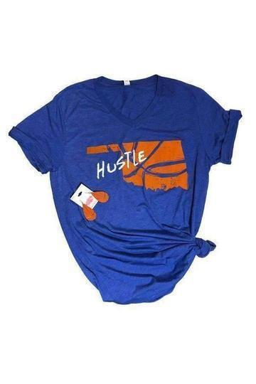 Hustle Basketball Graphic T-Shirt -Small / Royal -Small - Graphic T-Shirts - Snips and Snails Boutique