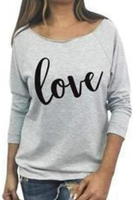 Love Raw Edge Terry 3/4 Sleeve Raglan Tee - - - Graphic T-Shirts - Snips and Snails Boutique