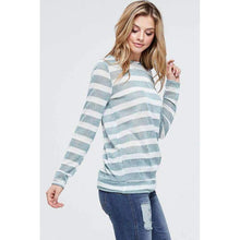 Load image into Gallery viewer, Striped Long Sleeve Knit Lightweight Sweater Top