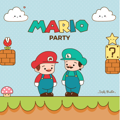 KIT IMPRIMIBLE MARIO BROS - TINIKI STUDIO