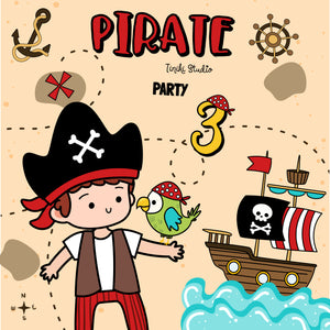 KIT IMPRIMIBLE PIRATAS - TINIKI STUDIO