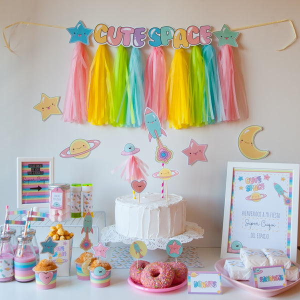 KIT IMPRIMIBLE ESPACIO KAWAII - TINIKI STUDIO