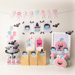 KIT IMPRIMIBLE HALLOWEEN KAWAII - TINIKI STUDIO