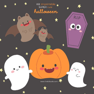 KIT IMPRIMIBLE HALLOWEEN GRATIS - TINIKI STUDIO