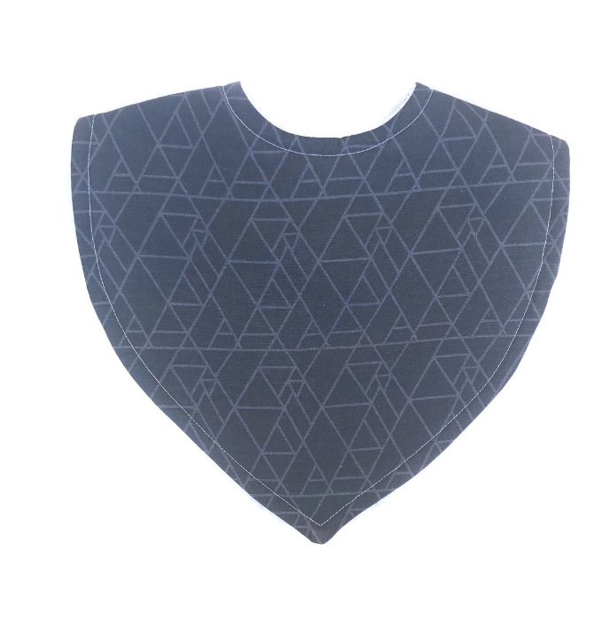 Charcoal Lines Triangle Bib