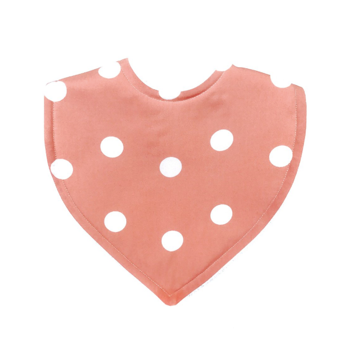 Peachy Spots Triangle Bib