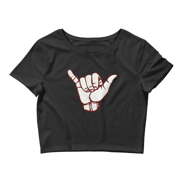 Hand Logo Crop Tee Black
