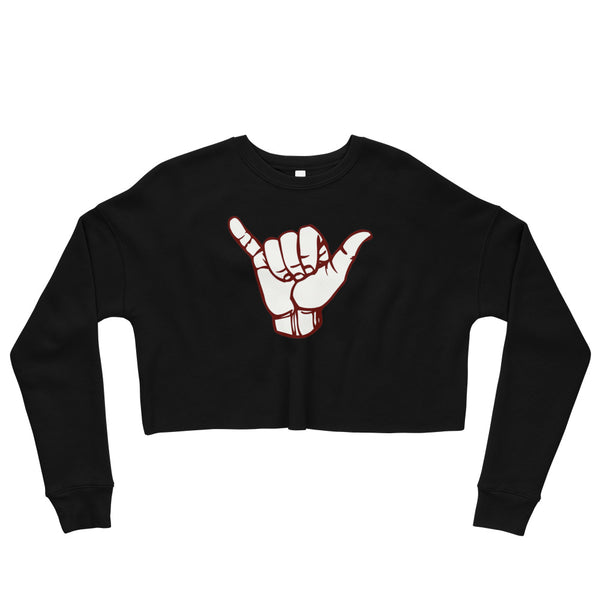 Hand Logo Women's Crop Sweatshirt