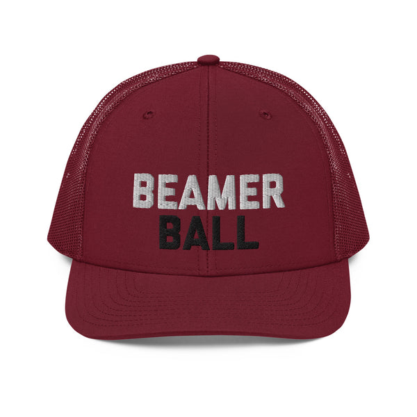 Beamer Ball Garnet Trucker Hat