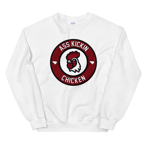 Ass Kickin Chicken White Sweatshirt