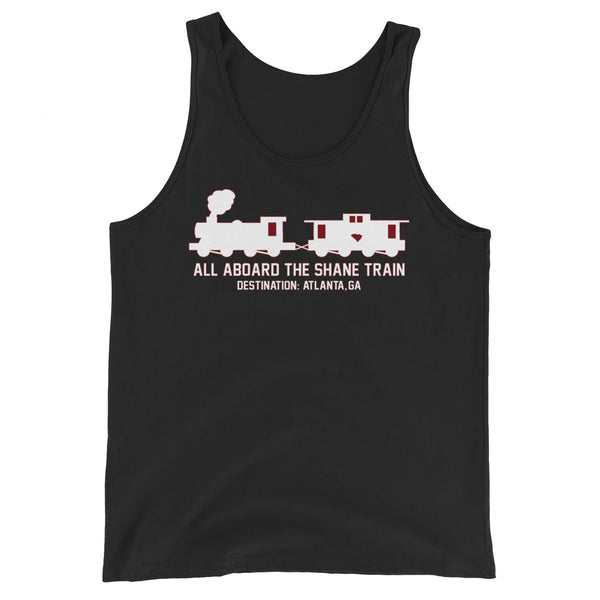 All Aboard The Shane Train Black Tank Top