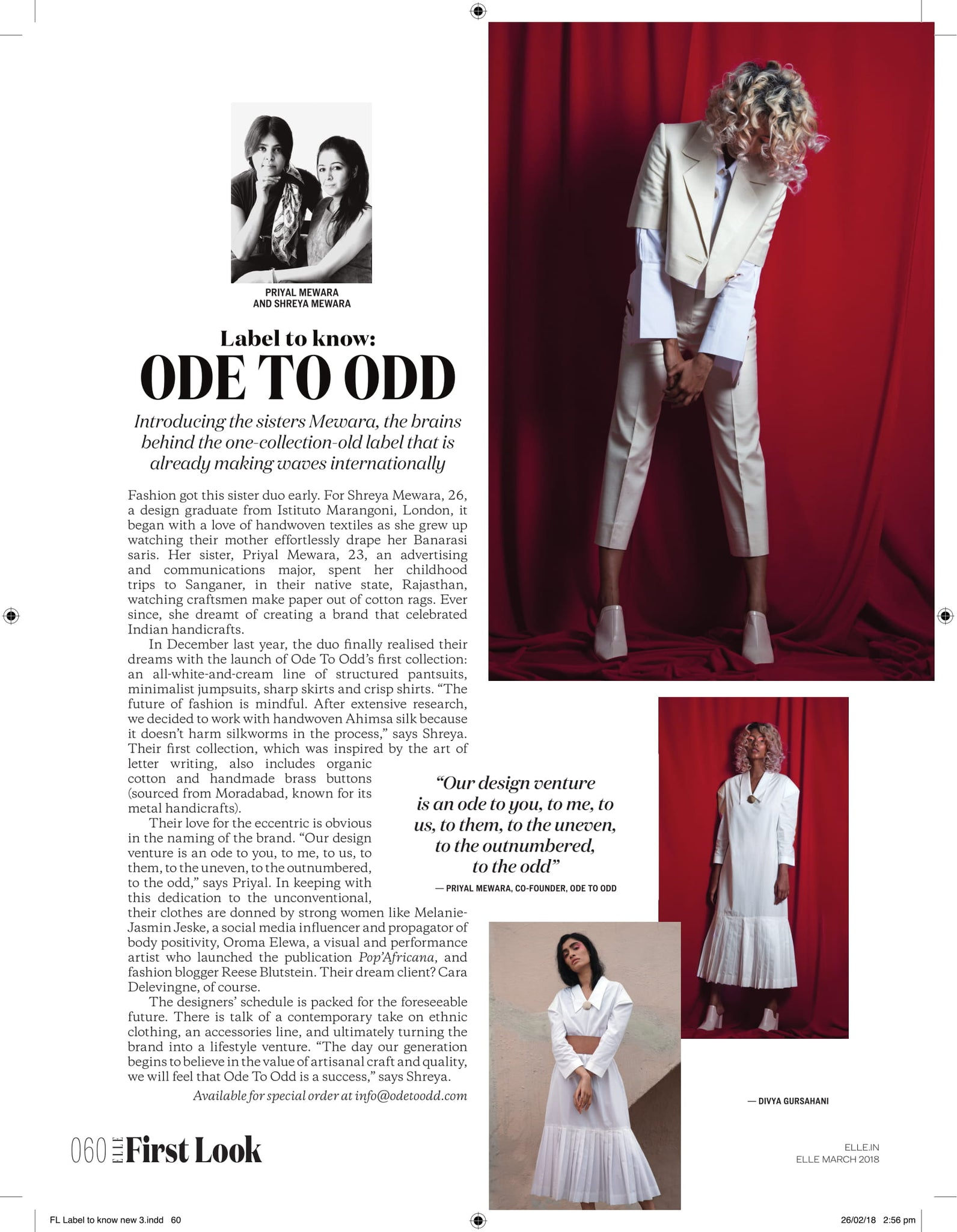 Elle India - Ode To Odd