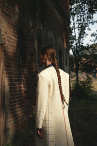 Hand embroidered coat with beautiful details, embroidery inspired by kutch, sustainable and ethical fashion, meaningful fashion, slow living