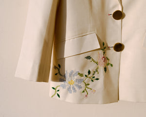 FERN LONG EMBROIDERED COAT