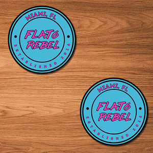 FLAT6REBEL OG Stickers