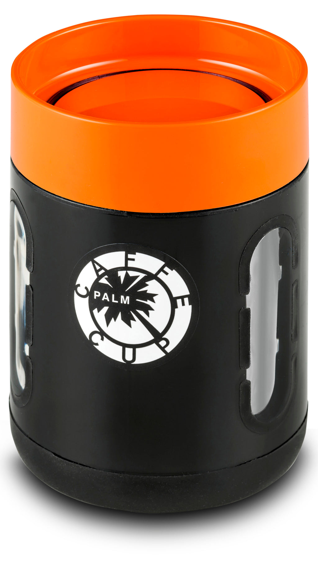 Palm Caffe Cup - Black/Orange