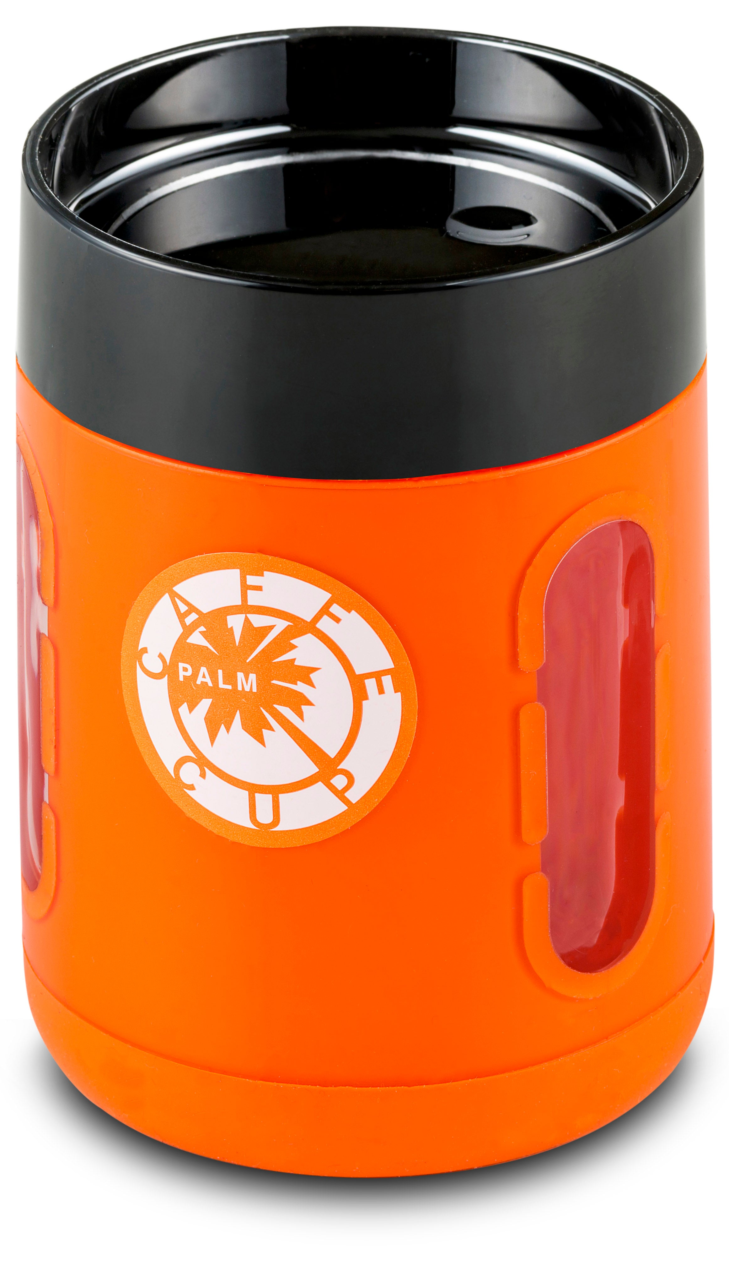 Palm Caffe Cup - Orange/Black