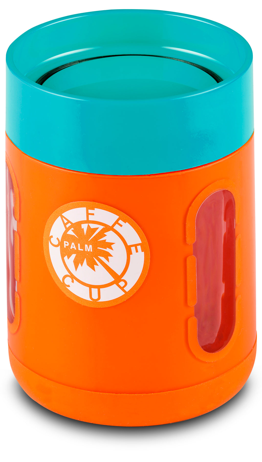 Palm Caffe Cup - Orange/Blue