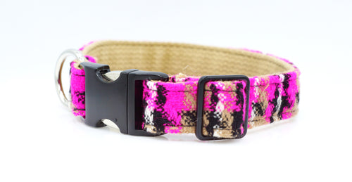 Hot Pink on Cotton Webbing