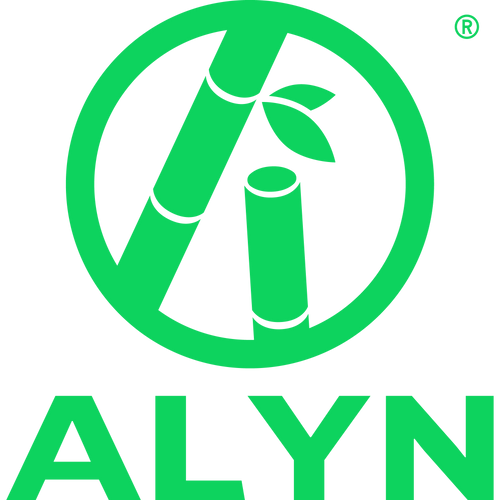 green and eco-friendly bamboo flat and minimalist ecoalyn logo