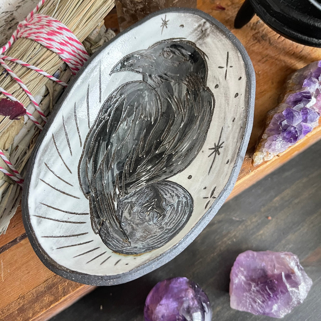 Allegory of Crows Smudge Dish No. 3