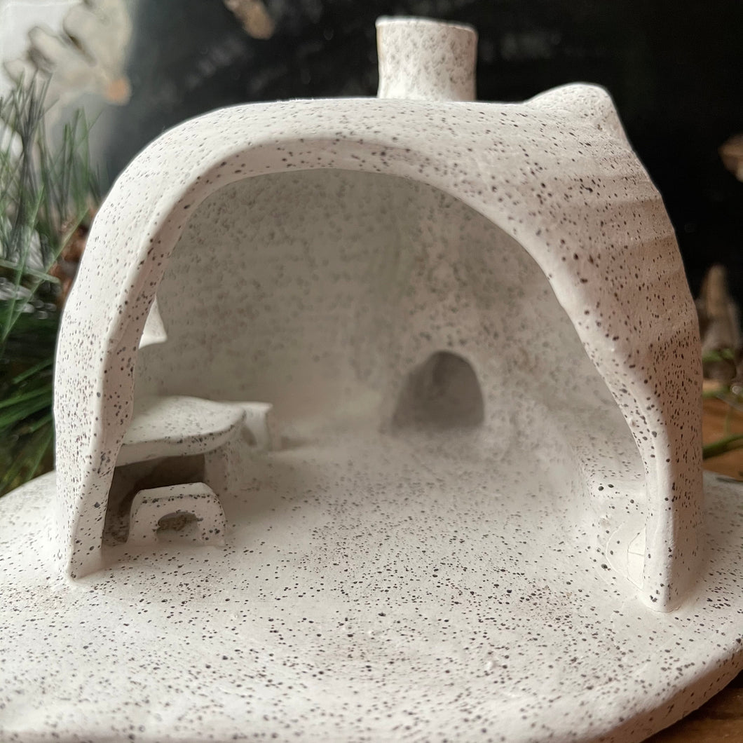 Stoneware Adobe Incense House No. 5