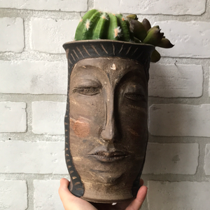 Mountain: terra cotta cactus planter